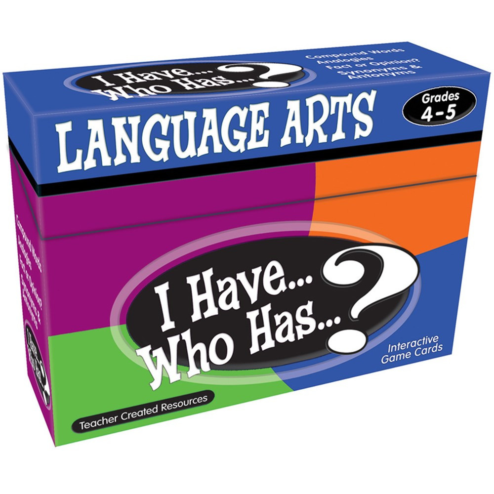 TCR7831 - I Have Who Has Language Arts Gr 4-5 in Language Arts