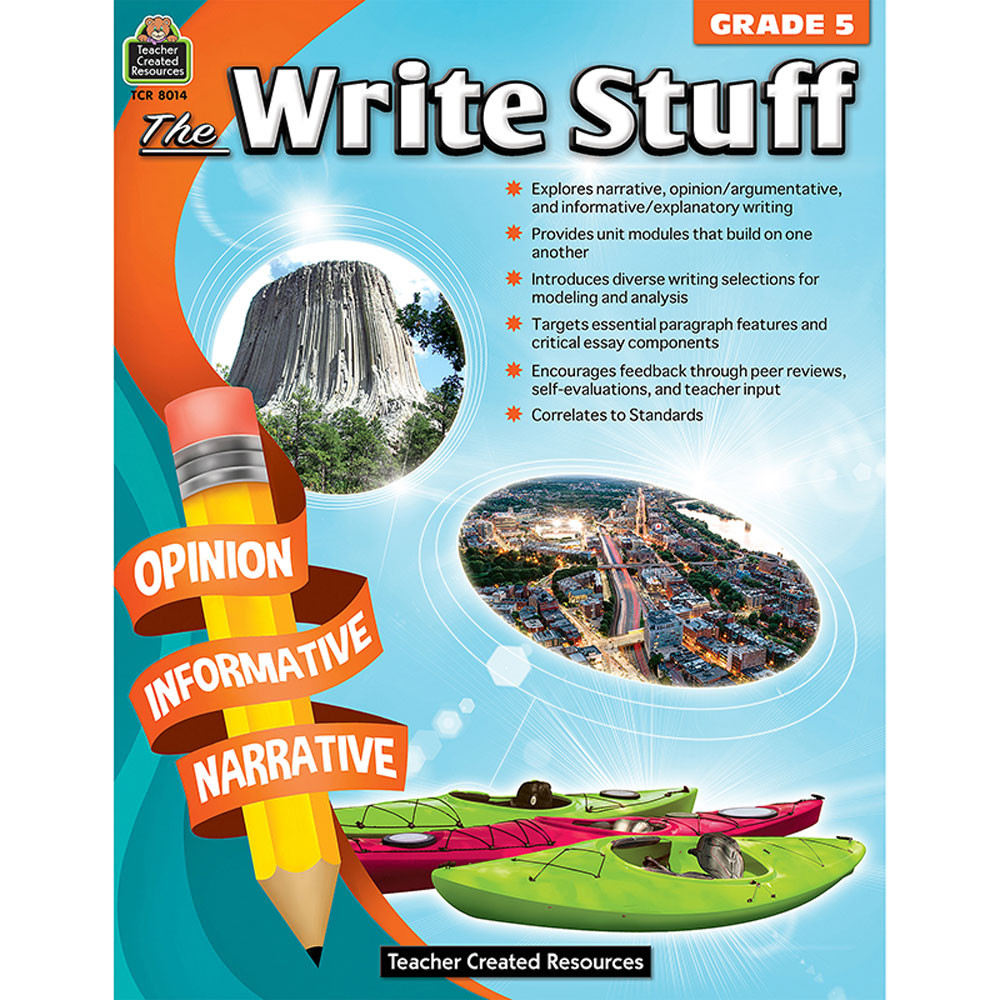 TCR8014 - The Write Stuff Grade 5 in Writing Skills