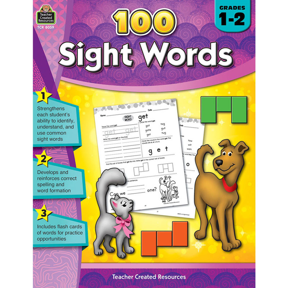 TCR8059 - 100 Sight Words Gr 1-2 in Sight Words
