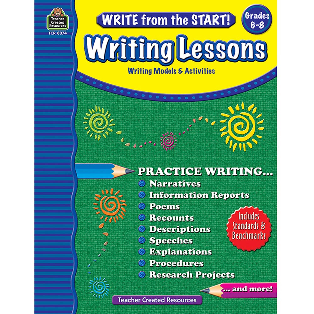 TCR8074 - Write From The Start Gr6-8 Writing Lesson in Writing Skills