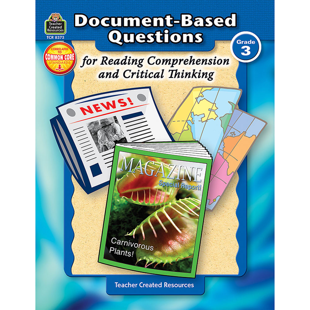 TCR8373 - Gr 3 Document-Based Questions For Read Comprehen & Critical Thinking in Books