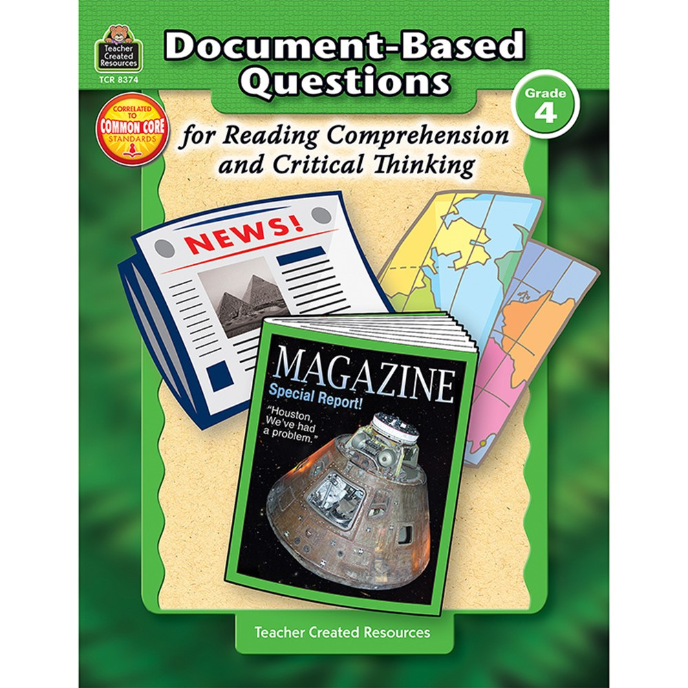 TCR8374 - Gr 4 Document-Based Questions For Read Comprehen & Critical Thinking in Books