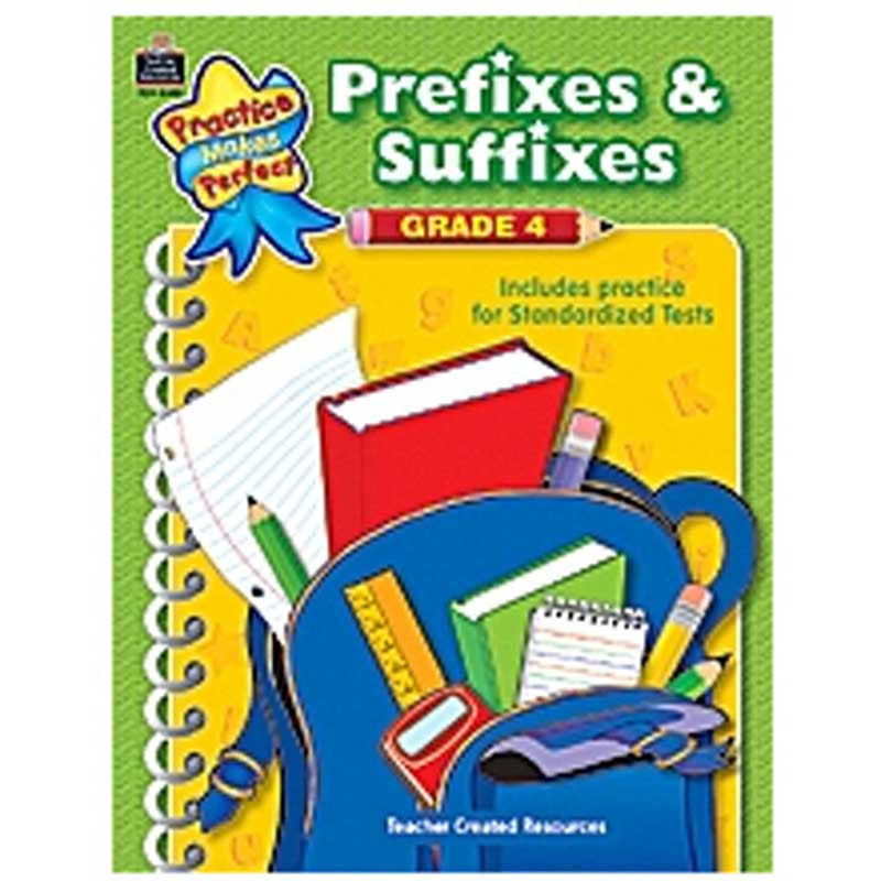 TCR8608 - Prefixes And Suffixes Gr 4 in Word Skills