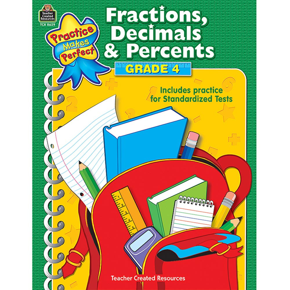TCR8629 - Pmp Fractions Decimals & Percents G Gr 4 in Activity Books