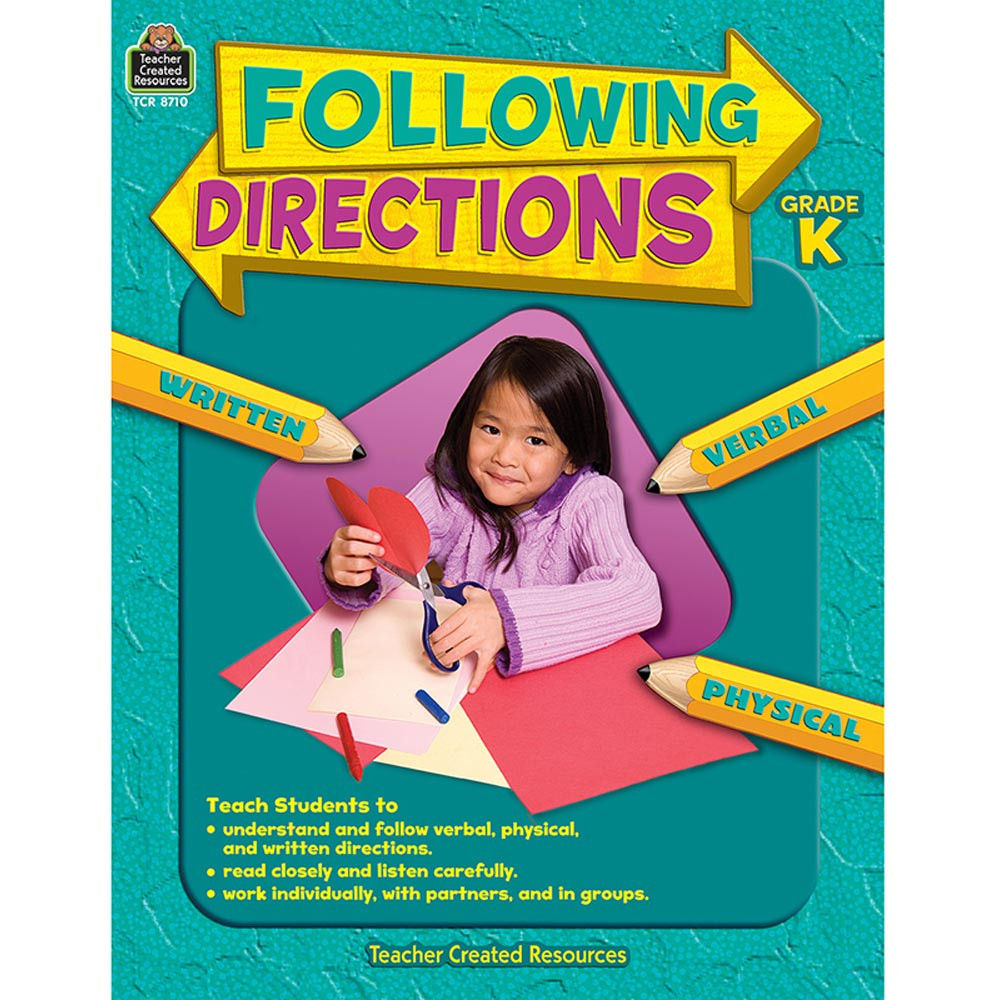 TCR8710 - Following Directions Gr K in Following Directions