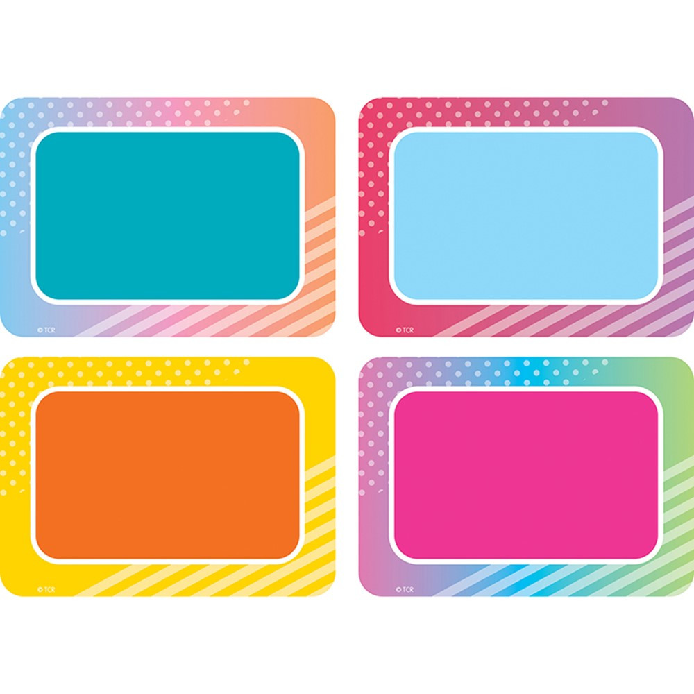 TCR8783 - Colorful Vibes Name Tags/Labels in Name Tags