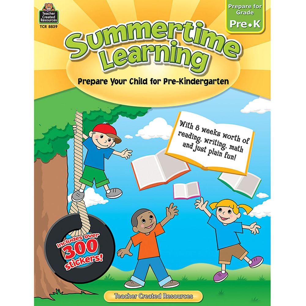 TCR8839 - Summertime Learning Gr Pk in Skill Builders
