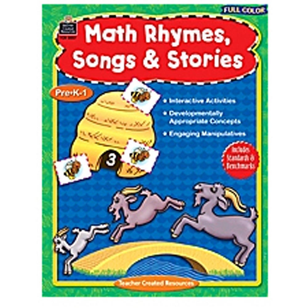 TCR8857 - Full-Color Math Rhymes Songs & Stories in Activity Books