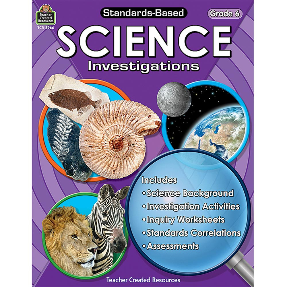 TCR8966 - Standard Based Gr 6 Science Investigation in Activity Books & Kits