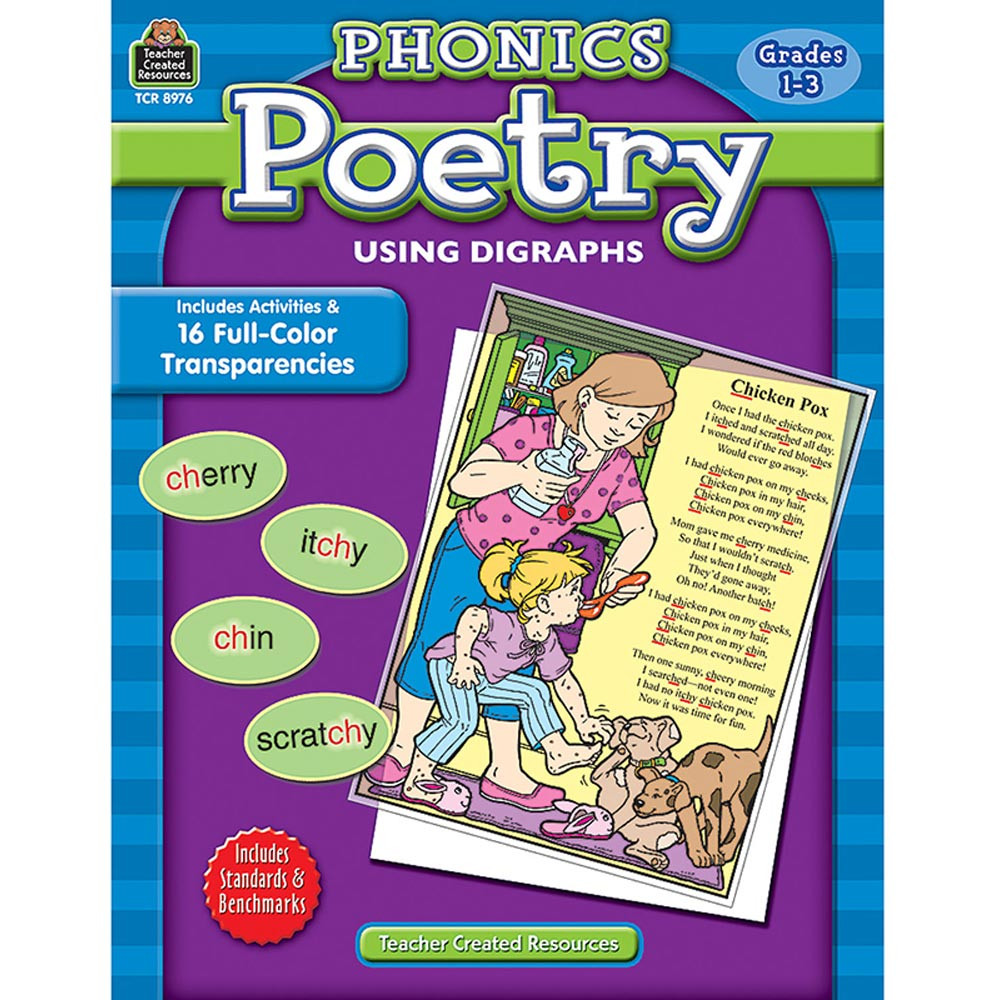 TCR8976 - Phonics Poetry Using Digraph Gr 1-3 in Poetry