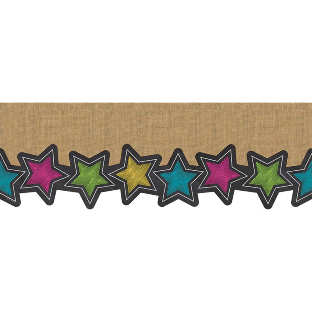 TCR8983 - Chalkboard Burlap Big Big Border in Border/trimmer