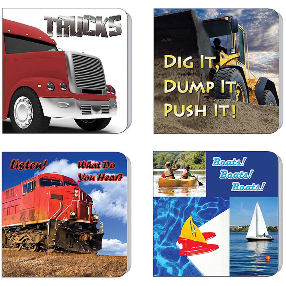 TCR90064 - Things That Go Board Books Set Of 4 in Big Books