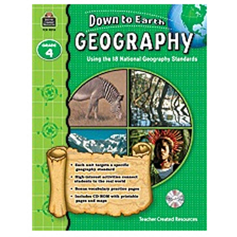 TCR9274 - Down To Earth Geography Gr 4 Book W/Cd in Social Studies