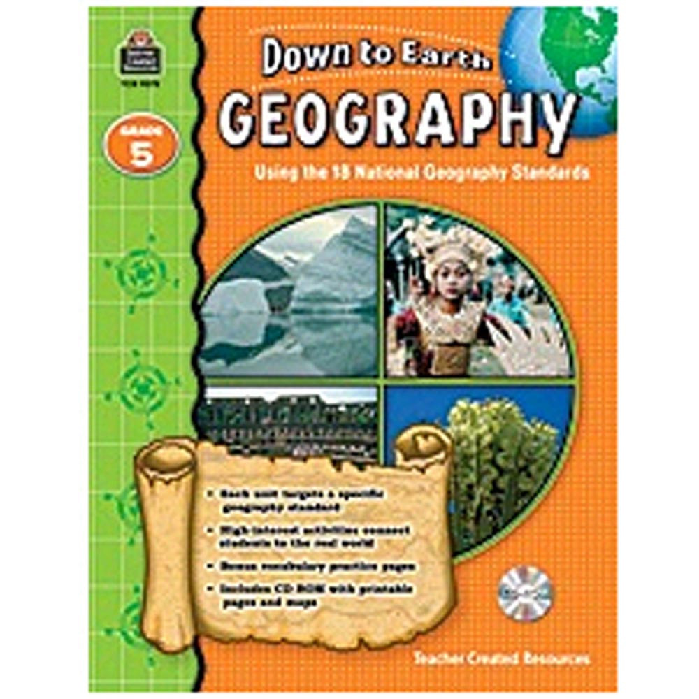 TCR9275 - Down To Earth Geography Gr 5 Book W/Cd in Social Studies