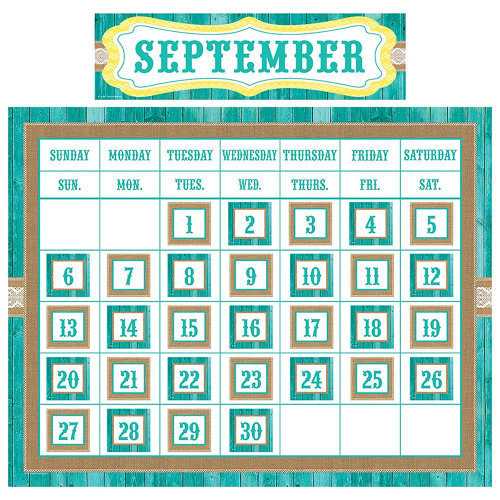Classroom Decor Set Free : Shabby chic calendar set tcr teacher created