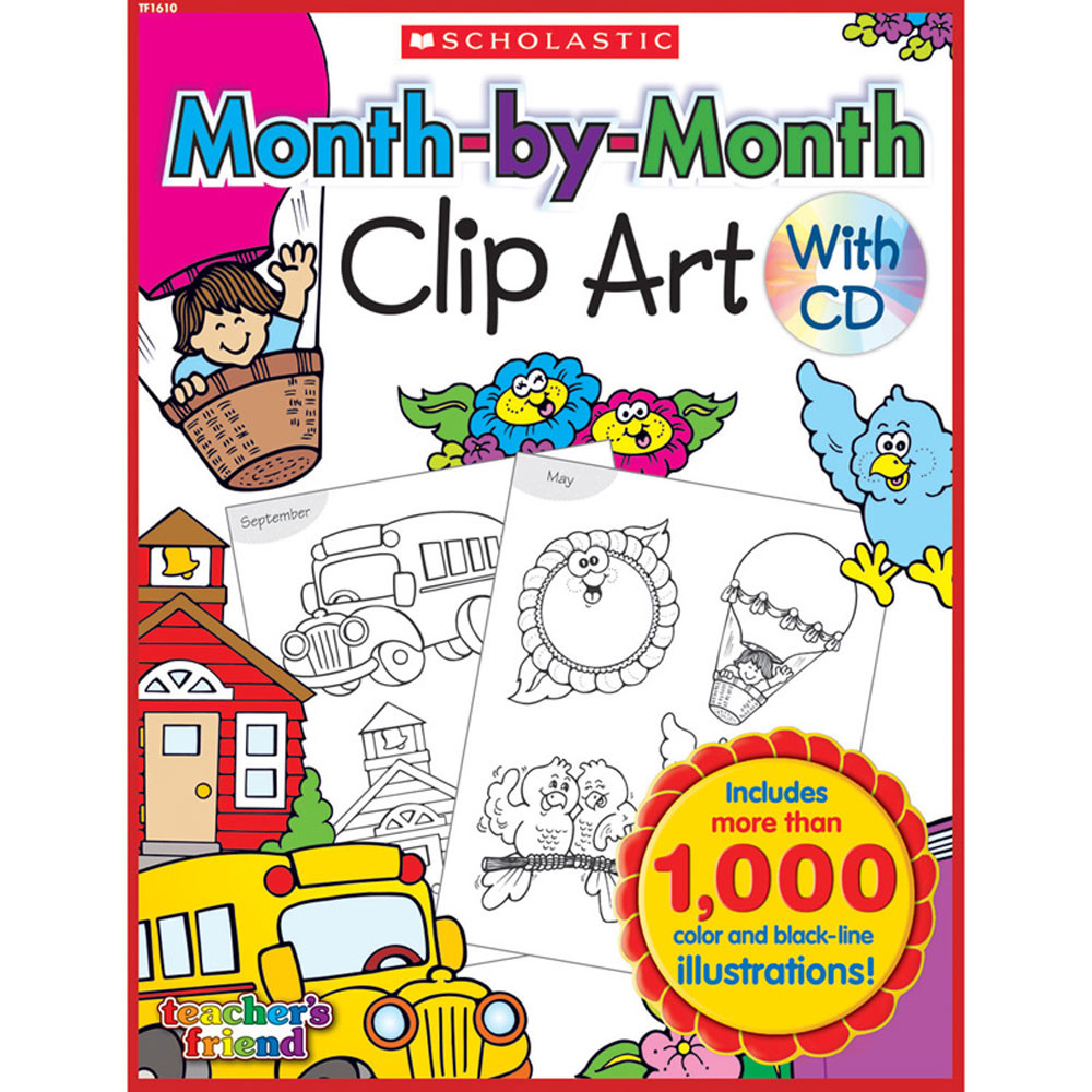 TF-1610 - Month-By-Month Clip Art Book in Clip Art