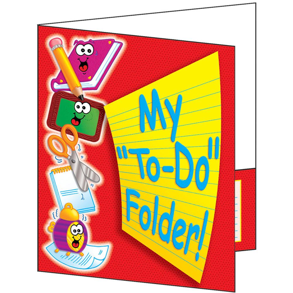 TF-1730 - Pocket Folder My To Do Folder 8-1/2 X 11 Plastic-Coated in Folders