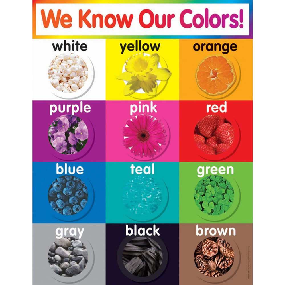 TF-2503 - Colors Chart Gr Pk-5 in Miscellaneous