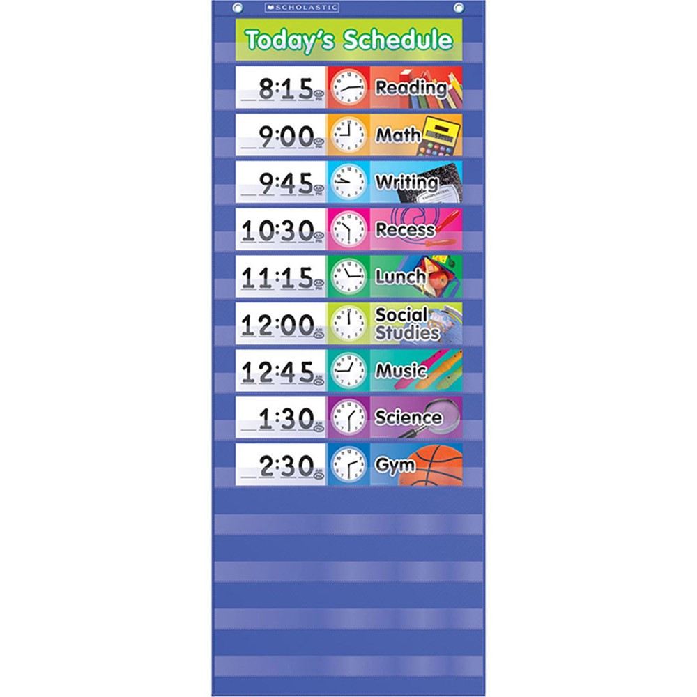 TF-5102 - Daily Schedule Pocket Chart Gr K-5 in Pocket Charts