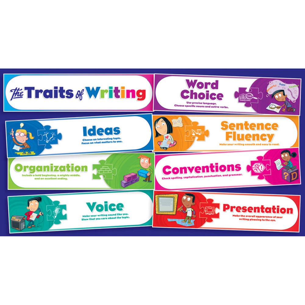 TF-8075 - Traits Of Writing Mini Bulletin Board Set in Language Arts