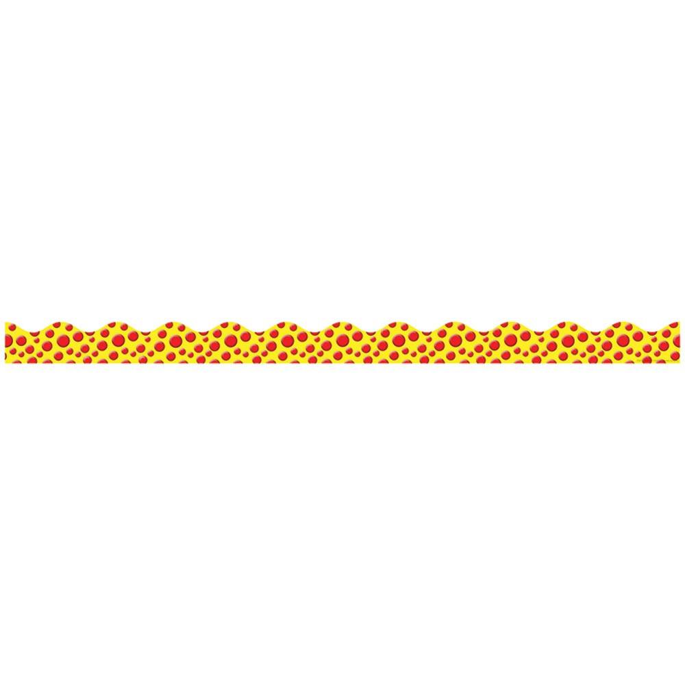 TF-8275 - Monster Dots Scalloped Trimmer Gr Pk-5 in Border/trimmer