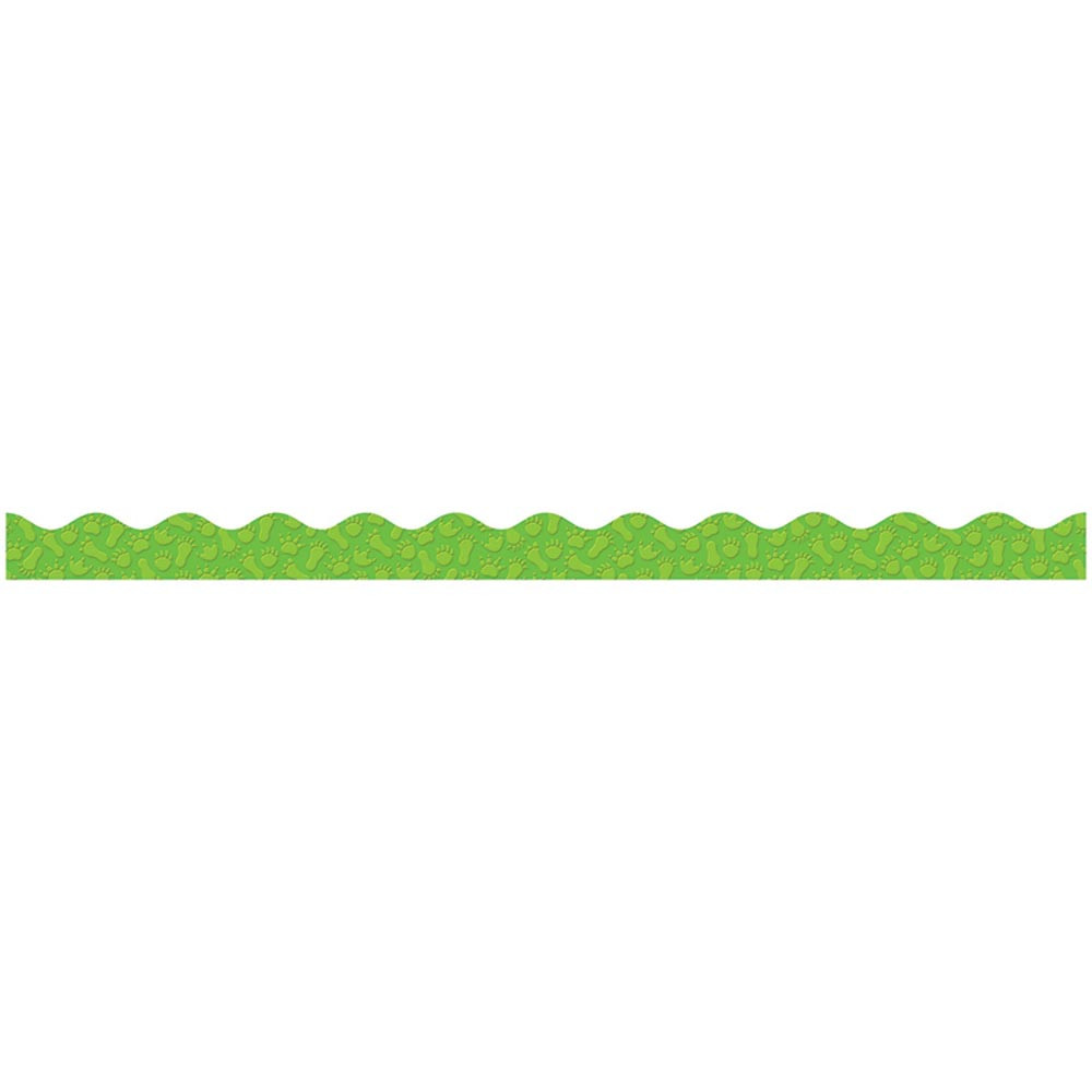 TF-8284 - Paw Prints Scalloped Trimmer Gr Pk-5 in Border/trimmer