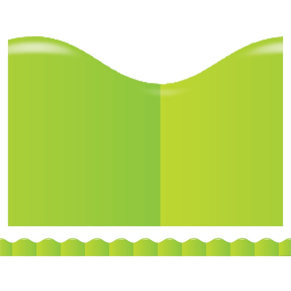 TF-8298 - Shades Of Green Scalloped Trimmer in Border/trimmer