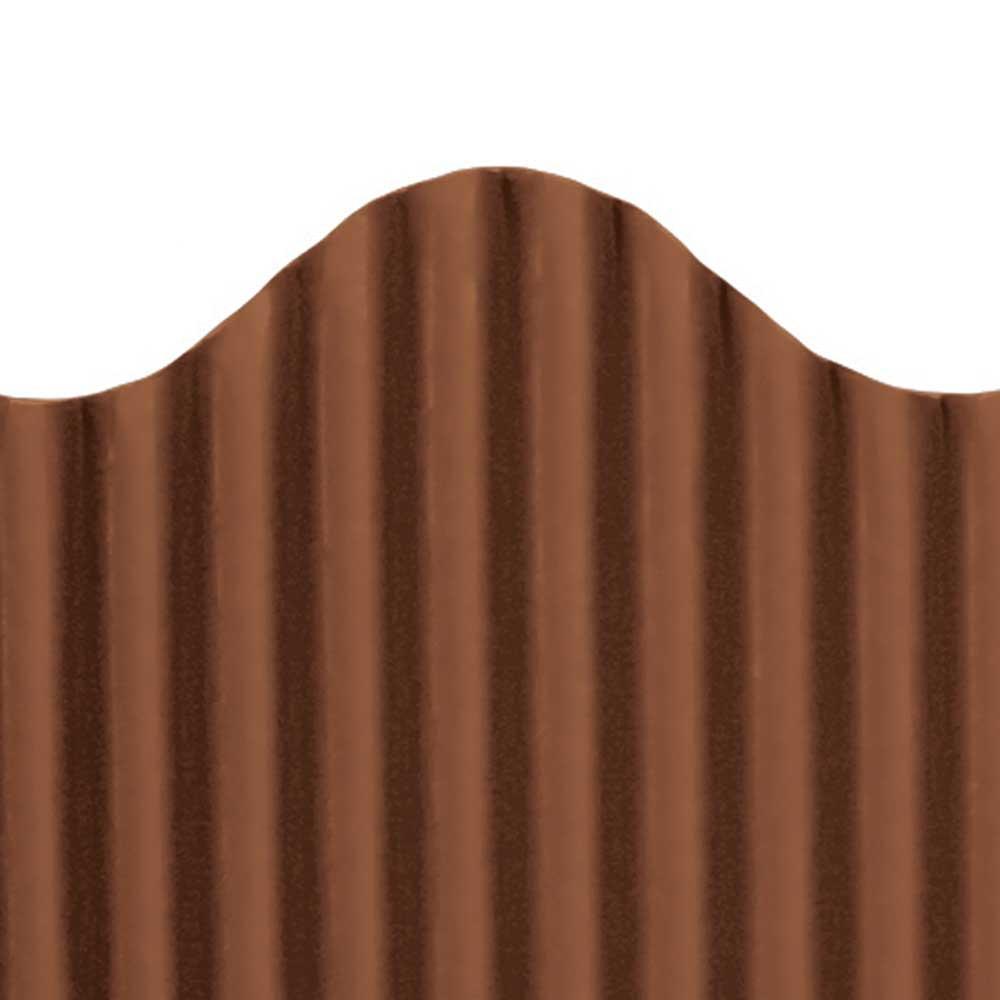 TOP21011 - Corrugated Border Brown in Bordette