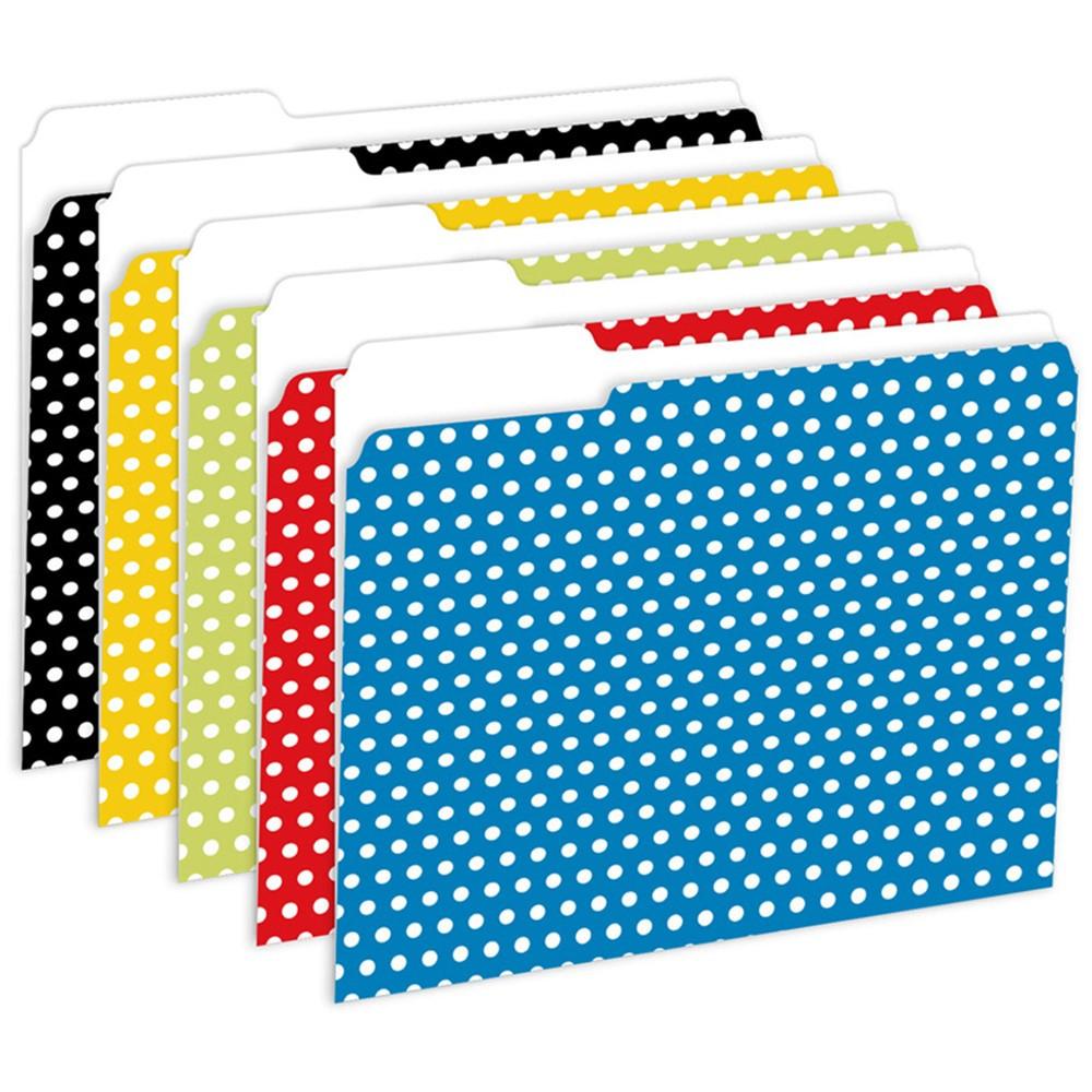 TOP3304 - Designer File Folders Polka Dot in Folders