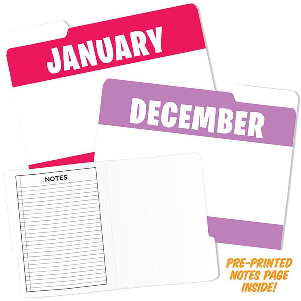 TOP3394 - Month Of Year Design File Folders in Folders