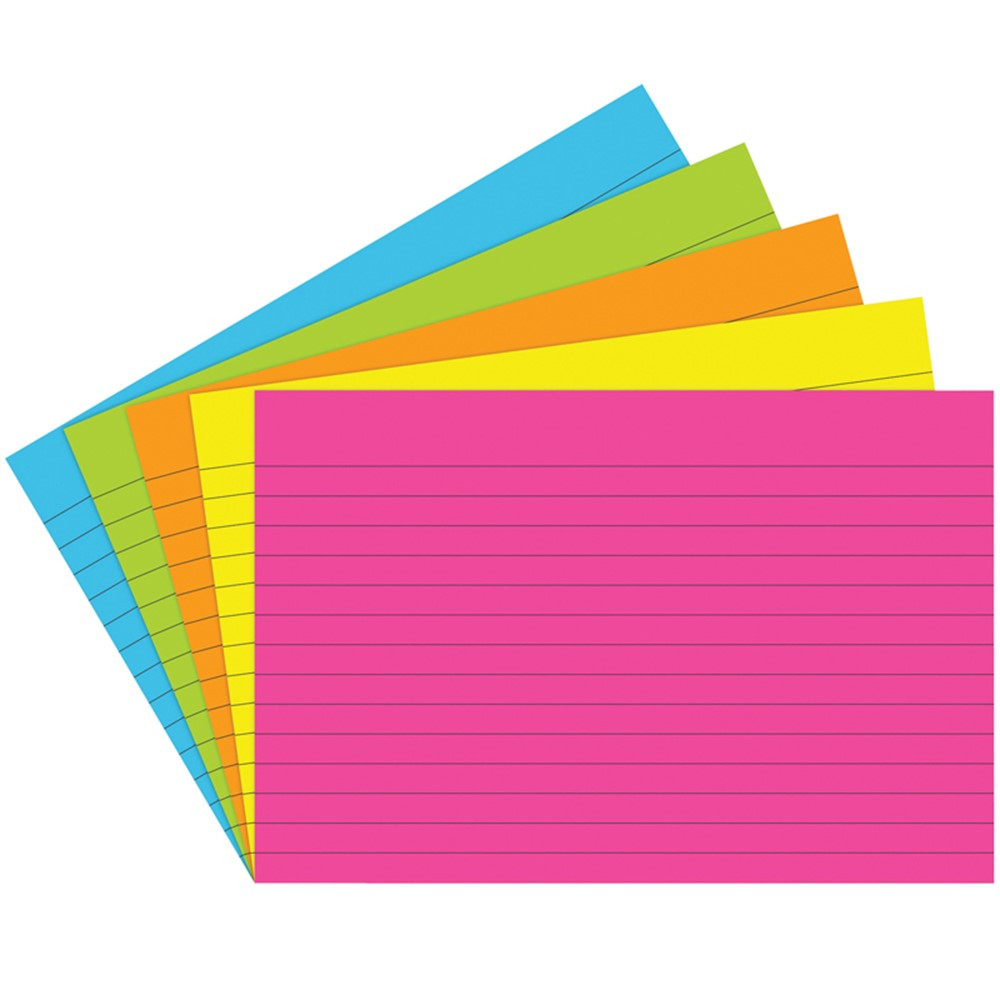 TOP363 - Index Cards 4X6 Lined 75 Ct Brite Assorted in Index Cards
