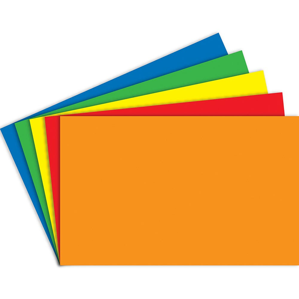 TOP3664 - Index Cards Blank 100Ct 5X8 Primary Assorted in Index Cards