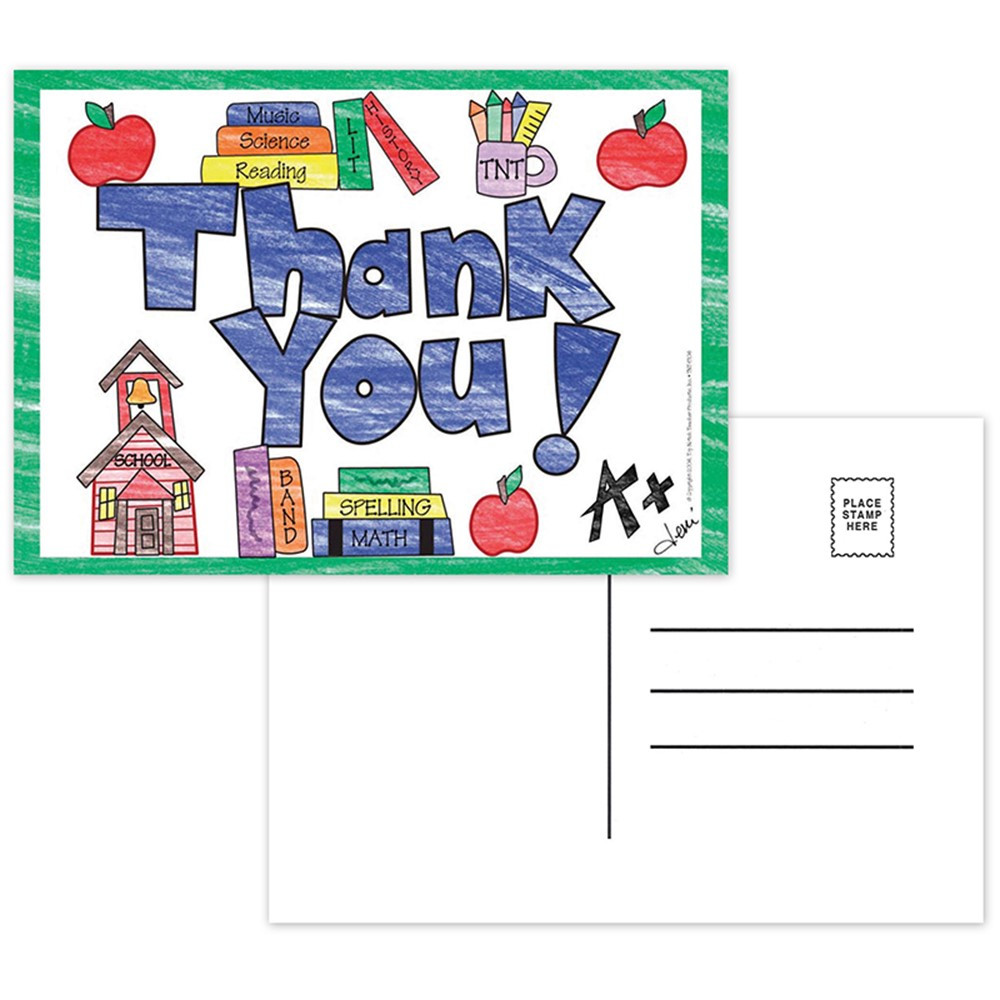TOP5104 - Thank You Postcards in Postcards & Pads