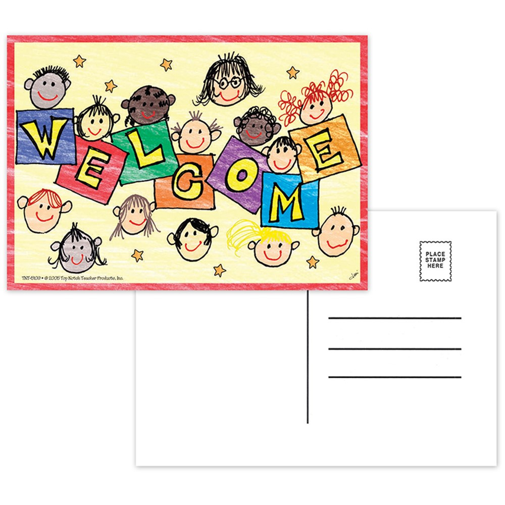TOP5109 - Welcome Postcards 30Pk in Postcards & Pads