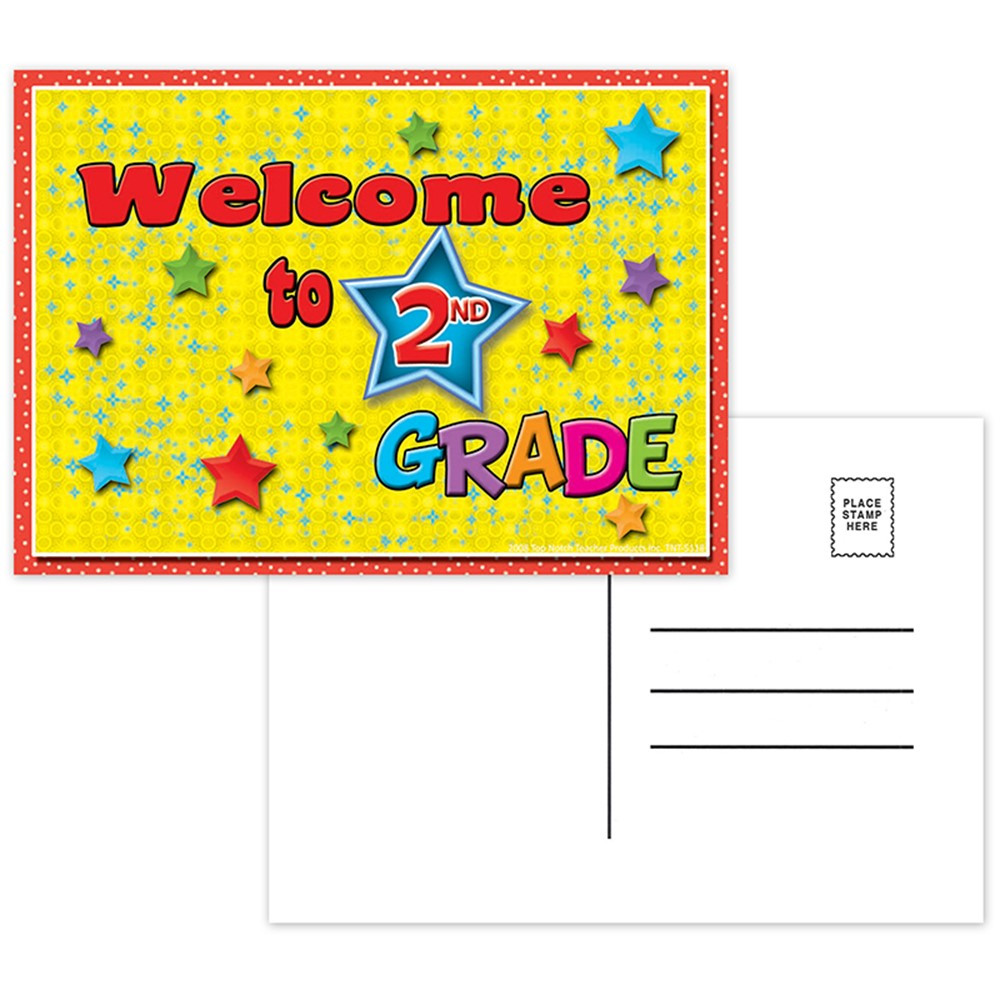 TOP5118 - Postcards Welcome To 2Nd Grade in Postcards & Pads