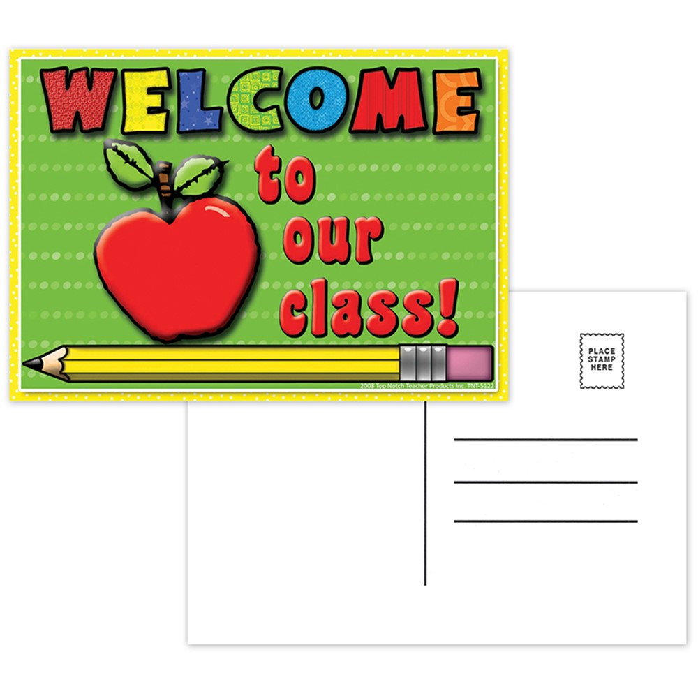 TOP5122 - Welcome To Our Class Postcards 30Pk in Postcards & Pads