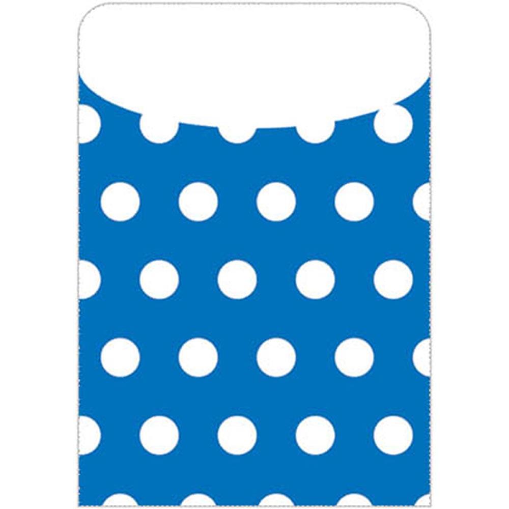 TOP6432 - Brite Pockets Blu Polka Dots 35/Bag in Folders