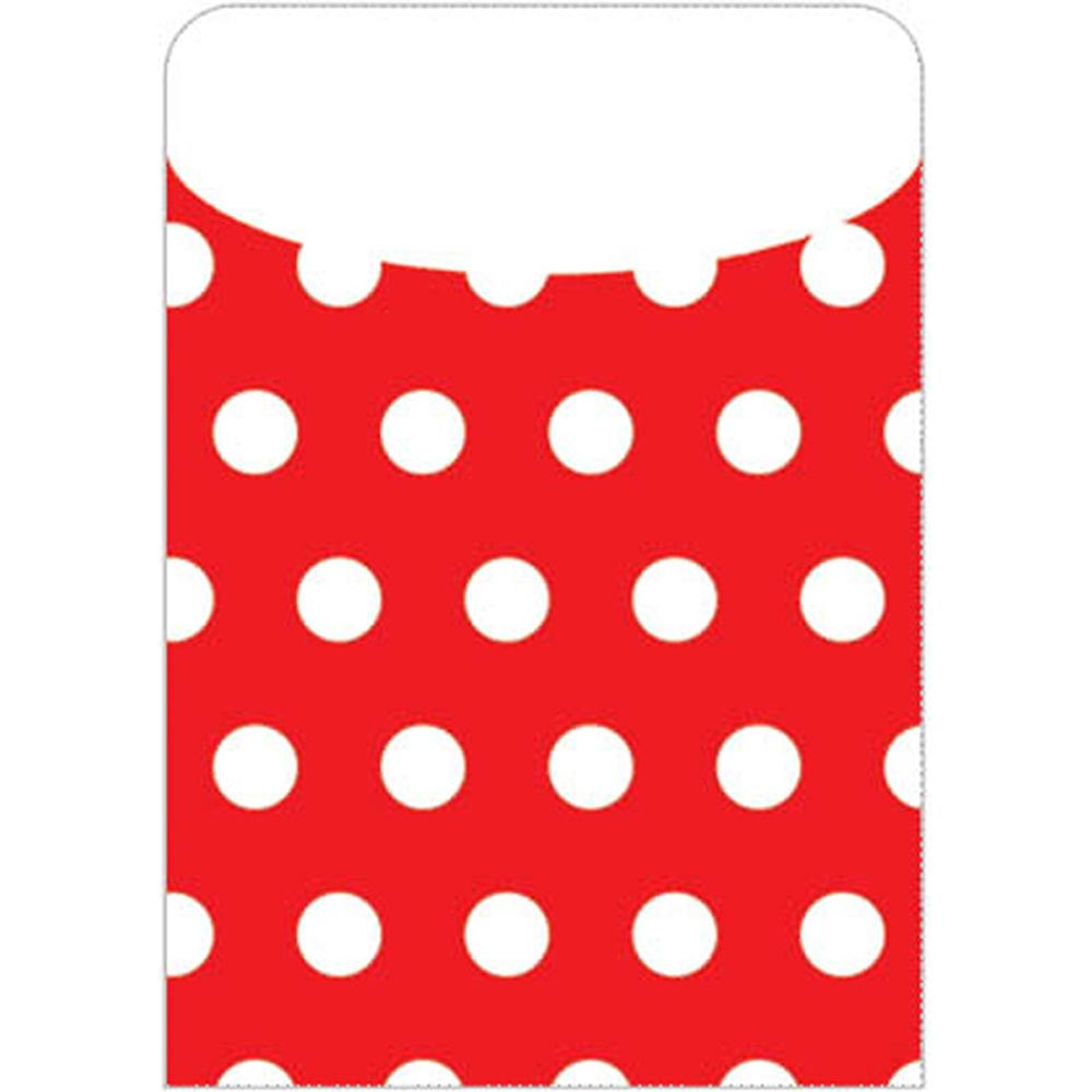 TOP6433 - Brite Pockets Red Polka Dots 35/Bag in Folders