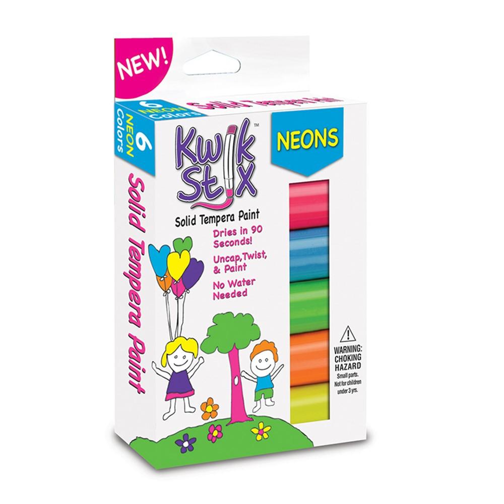 TPG610 - Kwik Stix Solid Paint Neon Colors 6Ct in Paint