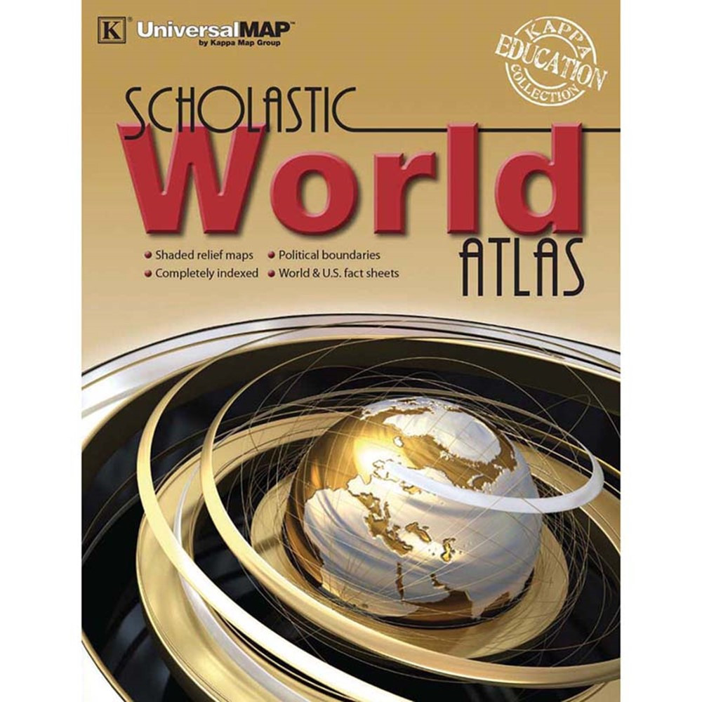 UNI11768 - World Atlas in Maps & Map Skills