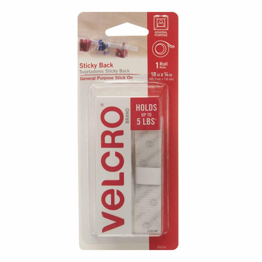 VEC90079 - Velcro Tape 3/4 X 18 Strips White in Velcro