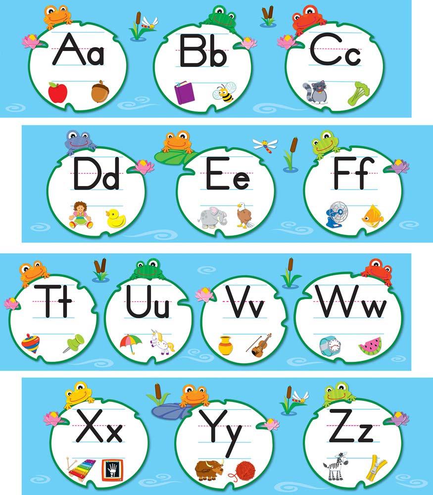 FUNky Frogs Alphabet Mini Bulletin Board Set