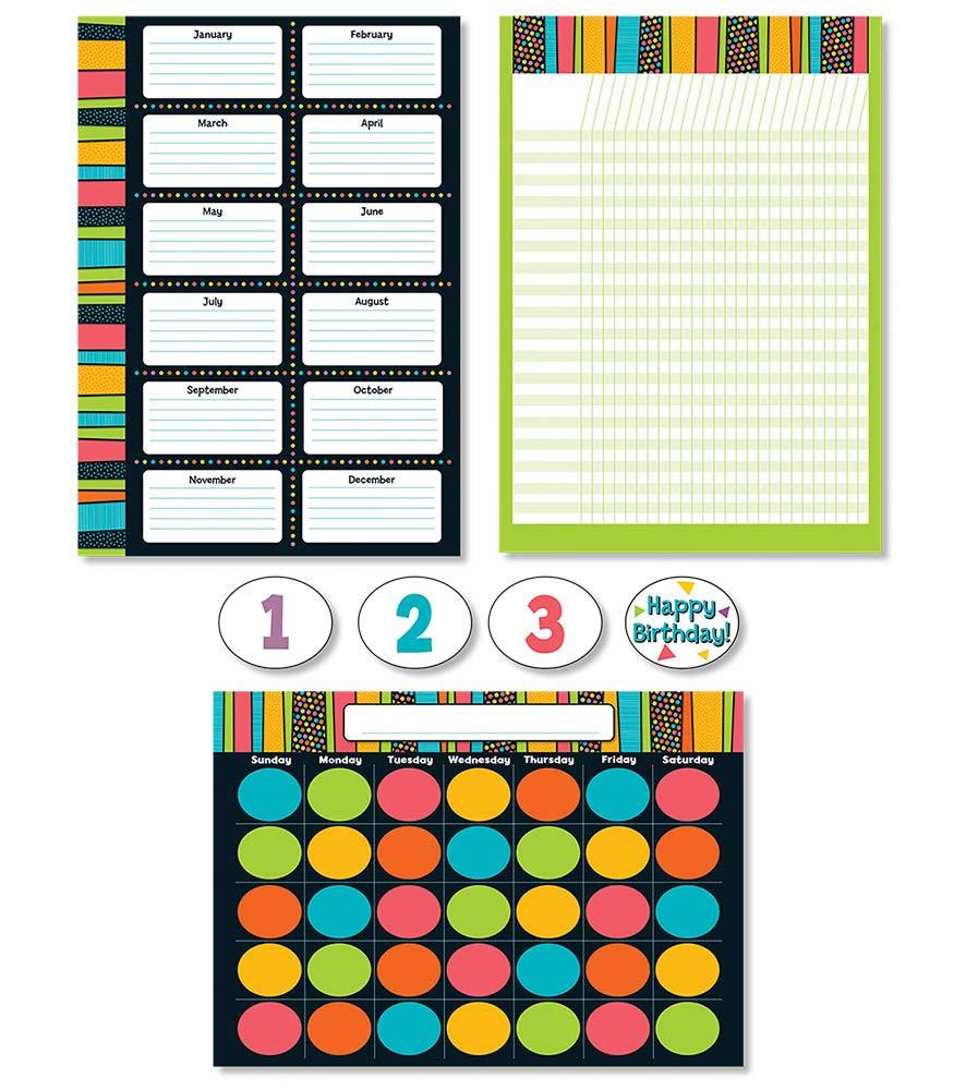 Classroom Decorations Bulletin Board Set ~ Stylin stripes bulletin board set cd carson