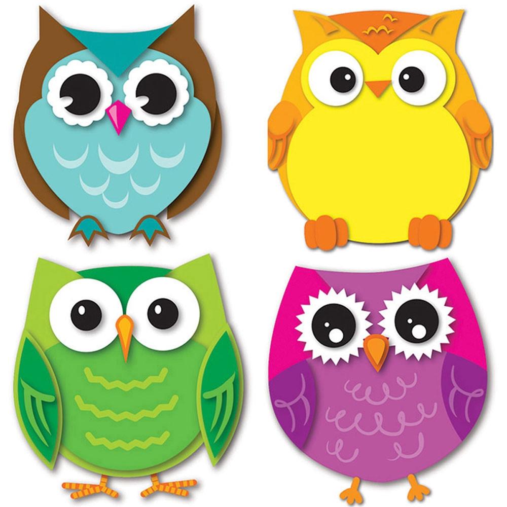 Colorful Owls Cut Outs - CD-120195 | Carson Dellosa