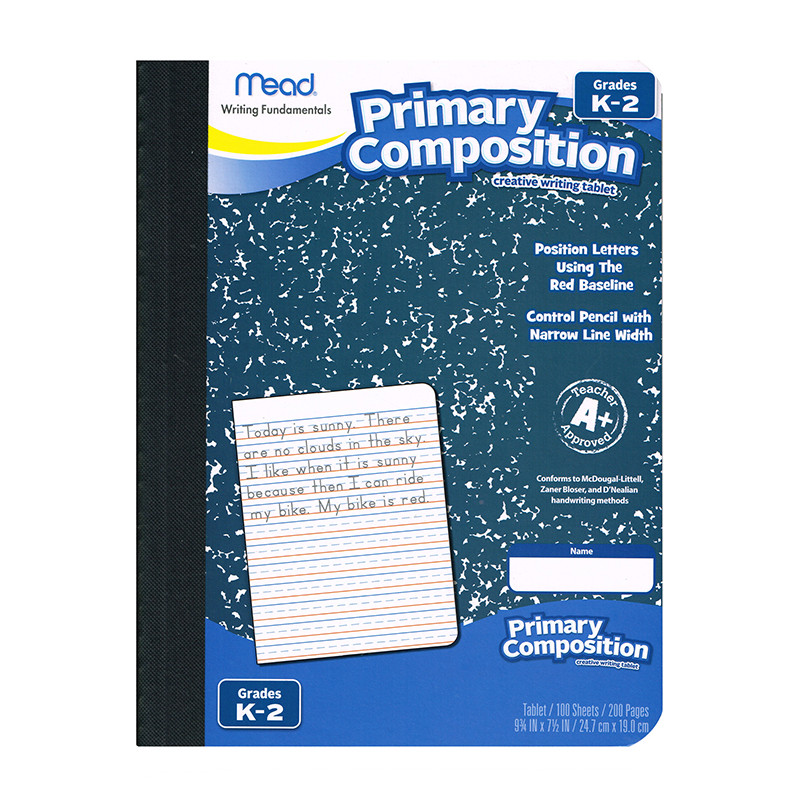 MEA09902 - Primary Composition Book Full Page Ruled 100 Ct in Note Books & Pads