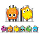 CD-108123 - Colorful Owls Strips in Border/trimmer