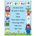 CTP5300 - Lets Get Along Chart in Classroom Theme