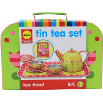 ALE705W - Tin Tea Set in Homemaking