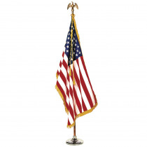 ANN031400 - Complete Mounted Us Flag Set 3X5 8 Ft Pole in Flags