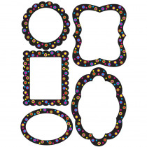 ASH10122 - Die Cut Magnet Frames Color Circles On Black in Whiteboard Accessories